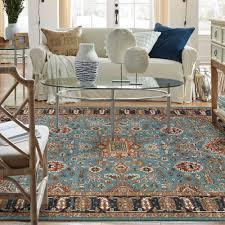 aquamarine karastan english manor rug design combine with oval glass coffee table viewing gallery