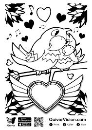 Valentijnskleurplaat Tot Leven Laten Komen Met Quiver Meestersandernl