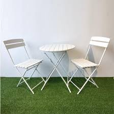 outdoor white furniture. BISTRO Folding Outdoor Cafe Set, White Furniture
