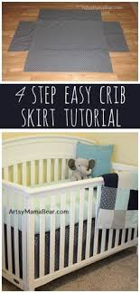 Crib Skirt Pattern Impressive DIY Tutorial Sew Your Own Crib Skirt Ewsassycreations