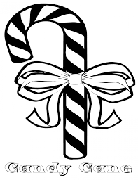 Small Picture Coloring Pages Christmas Candy Cane With Bow Coloring Page Free