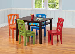 Game Table And Chairs Set Ukid Rectangle Childrens Game Table With 4 Chairs Chocolate