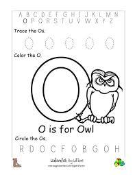 Color alphabet o coloring page. Letter O Alphabet Worksheets