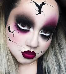creepy broken doll eye contour palette and trooper tattoo liner by thekatvond sugarpill 2am and eyeshadow doseofcolors berry me 2 and black