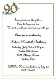 90 Birthday Party Invitations Wording For 90th Birthday Invitations 90 Birthday