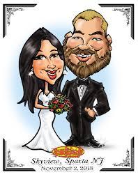 wedding gift caricature
