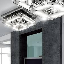 Led 18watt Decken Leuchte Esszimmer Kristall Glas Lüster Lampe Chrom