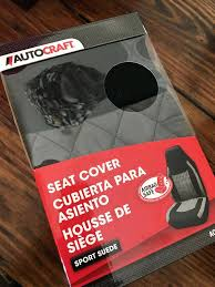 autocraft seat cover two sport suede new in box auto parts covers