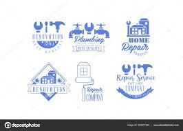Original Blue Emblems For Repairing Companies Plumbing And Home