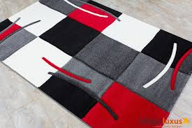 red black and gray area rugs tags round regarding white decor 14