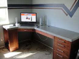 Counter Top Desks Concrete Table Top Need To Do And Add A Light And Holes For Cords