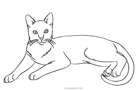 Printable Coloring Pages Cats Printable Coloring Pages Cats Free