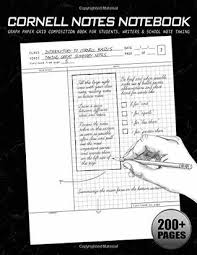 Cornell Notes Notebook Graph Paper Grid Composition Book