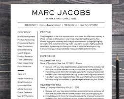 Modern Cv Word Professional Resume Template With Photo Modern Cv Word Etsy