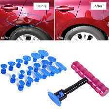 Car Body Dent Repair Kit Auto Bodywork Paintless Ding Hail Removal Tool+Glue Tab