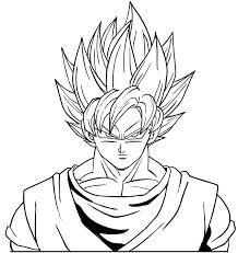 Il Volto Di Goku Super Sayan Disegno Da Colorare Gratis Disegni Da