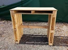 pallet furniture desk. diy euro pallet desk and coffee table furniture