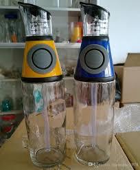 1pc olive oil dispenser kitchen glass bottle no drip pouring spout pumps measures mixes oils vinegar liquid ing jr 1097