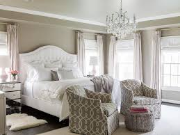 gray bedroom with pink accents