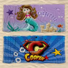 kids towel kids beach towel kids personalised beach towel kids beach towel with