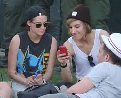 Kristen Stewart And Girlfriend Alicia Cargile Friend Jaden Smith.
