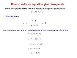 how to write an equation given two points