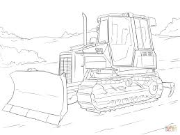 Caterpillar Bulldozer coloring page | Free Printable Coloring Pages