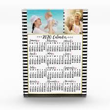 2020 Year Monthly Calendar Stripes Custom Photos Acrylic Award