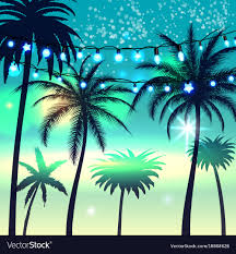 summer background summer background with palm trees royalty free vector image