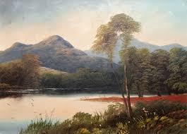 fine large 19th century landscape oil painting