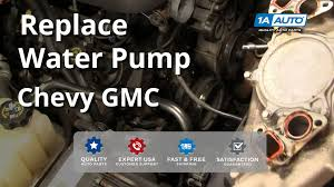 how to install replace water pump chevy gmc silverado sierra tahoe how to install replace water pump chevy gmc silverado sierra tahoe yukon 4 8l 5 3l 6 0l 99 04 1aauto