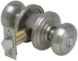 Schlage Andover Keyed Entry Knob, Andover Rose, Satin Nickel ...