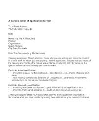 Sample Speculative Cover Letters Cover Letter For An Application Sample Of Cover Letter For Applying