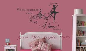 ... Wall Decals For Girl Room Dance Nobodys Girls Bedroom Wall Decals  Watching Nursery Ballerina Lovely Contemporary ...