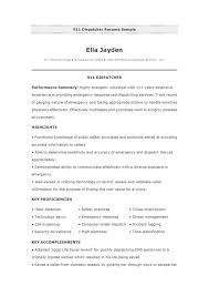 Dispatcher Resume Samples Resume Examples 911 Dispatcher Resume Samples