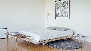 Upholstered Platform Queen Modern Baxton Studio Favela Size With