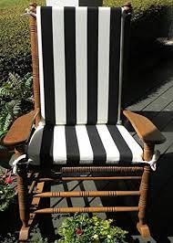 cracker barrel white rocking chairs. Modren White Indoor  Outdoor Black U0026 White Stripe Print Rocking Chair 2 Pc Foam Cushion  Set  Inside Cracker Barrel Chairs N
