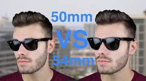 Ray Ban Wayfarer Size Chart Ray Ban Wayfarer 50mm Vs 54mm Size Comparison