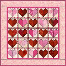 Patchwork Hearts Quilt Block Pattern & Make a Patchwork Hearts Quilt Adamdwight.com