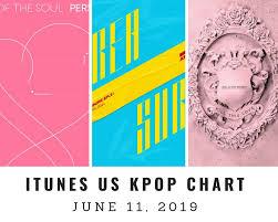 All Kpop Chart Itunes Us Itunes Kpop Chart June 11th 2019 2019 06 11