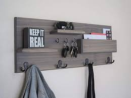 Coat Hook Rack With Shelf Unique Amazon Entryway Organizer Coat Hooks Key Rack Shelves Mail And