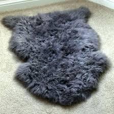 grey fur rug 8x10 gray faux bear skin best rugs red sheepskin white long large grey fur rug