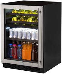 wine and beverage center.  Wine Marvel ML24WBG1LS 24 Inch Dual Zone Wine And Beverage Center With 51 Cu  Ft Capacity FullWidth Cantilevered Shelf 50550 Split Convertible Shelving  On And