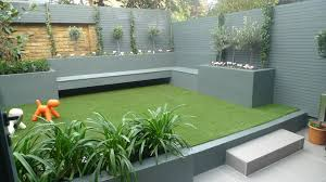 Small Picture Garden Design Ideas For Low Maintenance Modern Small Fake Grass