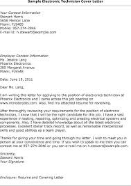 electronic technician cover letter cover letters amp resume with electronic cover letter tech cover letter