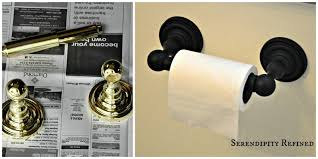 Painting Bathroom Fixtures Serendipity Refined Blog How To Update Oak And Brass Bathroom