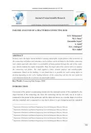 Design And Analysis Of Connecting Rod Project Report Pdf Failure Analysis Of A Fractured Connecting Rod