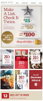 Email Newsletter Design Price West Elm Gifts By Price Design Emails Email Design