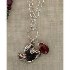 holy spirit dove medal garnet briolette necklace sterling silver plate chs1