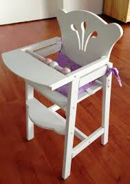 wooden doll high chair doll hairchair 1